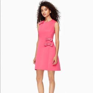 Kate Spade Hot Pink Embellished Bow A-Line Dress